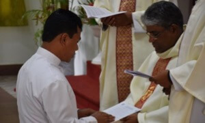 Fr Simon receives the Final Profession of Vows