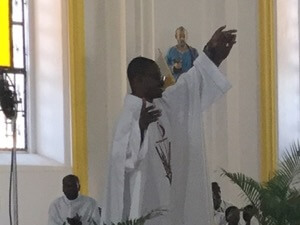 Newly Ordained Father Ginal Pierre