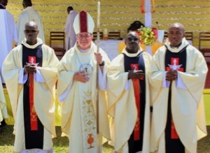 Newly Ordained Priests in East Africa with Bishop Colgan