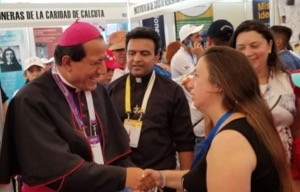 Bishop Jorge Izaguirre at the Vocations Fair