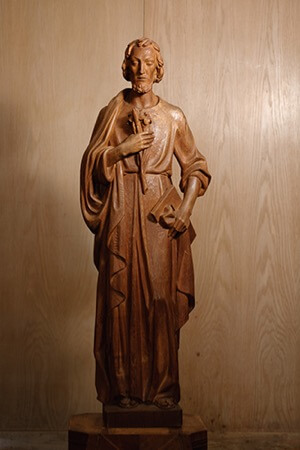 Statue of Joseph at Moreau Seminary
