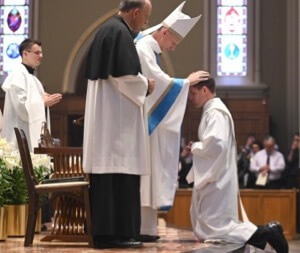 Bishop Wack ordains Fr Brogan Ryan, CSC