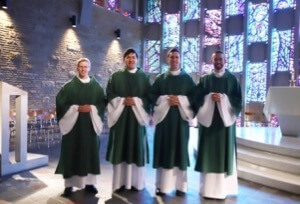The new deacons of the United States Province