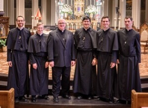 Fr William M Lies, CSC, with the five newly Finally Professed