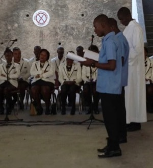 The two novices in Haiti at their First Profession