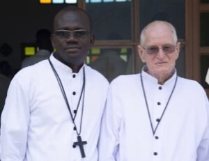 Br Maxwell Kofi Aboagye Kyeremeh, CSC, and Br Vincent Gross, CSC