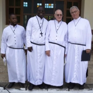 Br John Badu Affum, CSC, Br.Maxwell Kofi Aboagye Kyeremeh, CSC, Br Vincent Gross, CSC, and Br Kenneth Haders, CSC