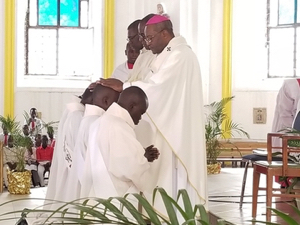 Most Rev Launay Saturné ordains four priests for Holy Cross in Haiti