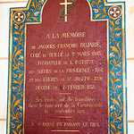 The plaque inside the Ruillé church dedicated to the memory of Father Jacques Dujarié.