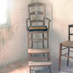 This is a typical chair used by teachers, much like the Brothers of Saint Joseph, in the early 1800's.