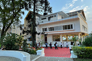 The Grande Saint Joseph, Vicariate's new guest house in nearby Yercaud.
