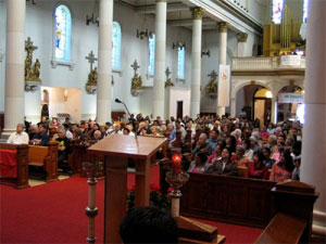 Mass at St Ann Church in Toronto