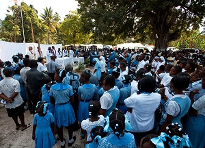 Mass in Haiti