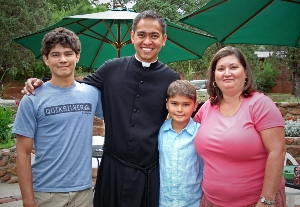 Br Nich Perez, CSC, with Friends
