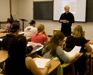 Fr Kevin Spicer, CSC, Teaching at Stonehill