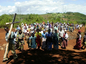 Procession with Cross in Tanzania