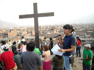 Cross on Pilgrimage in Peru