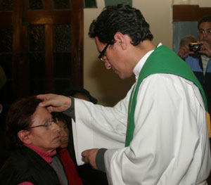 Anointing in Peru