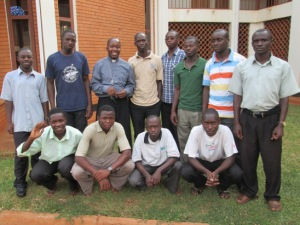 Rev Temba Leopold with Seminarians
